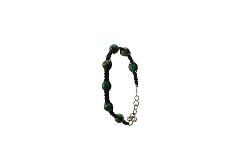 Ανδρικό πλεκτό βραχιόλι με τυρκουάζ - Macrame bracelet for men with turquoise