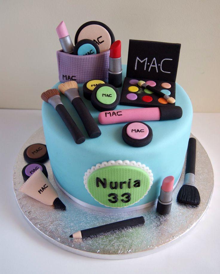 Torta maquillaje MAC de Artifondant  Pasteles  Pinterest ...