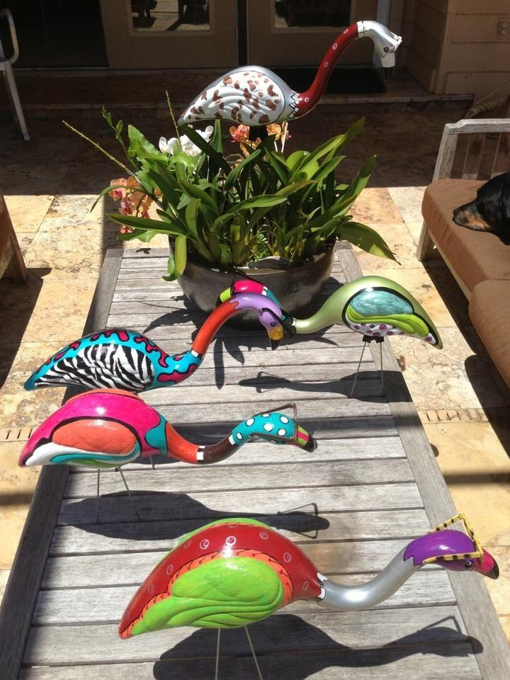 yard flamingo custom - Google Search