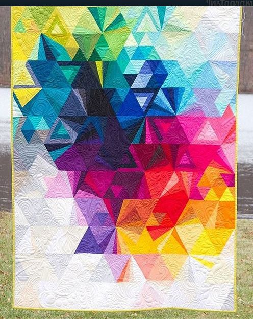 Variation of the Tessellation Quilt Pattern by Alison Glass