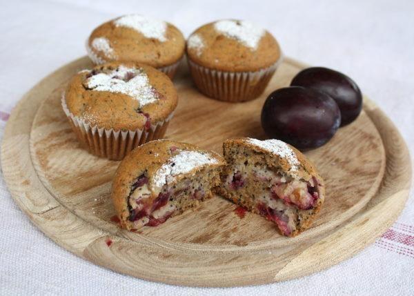 Muffiny so slivkami a makom, Koláče, recept | Naničmama.sk