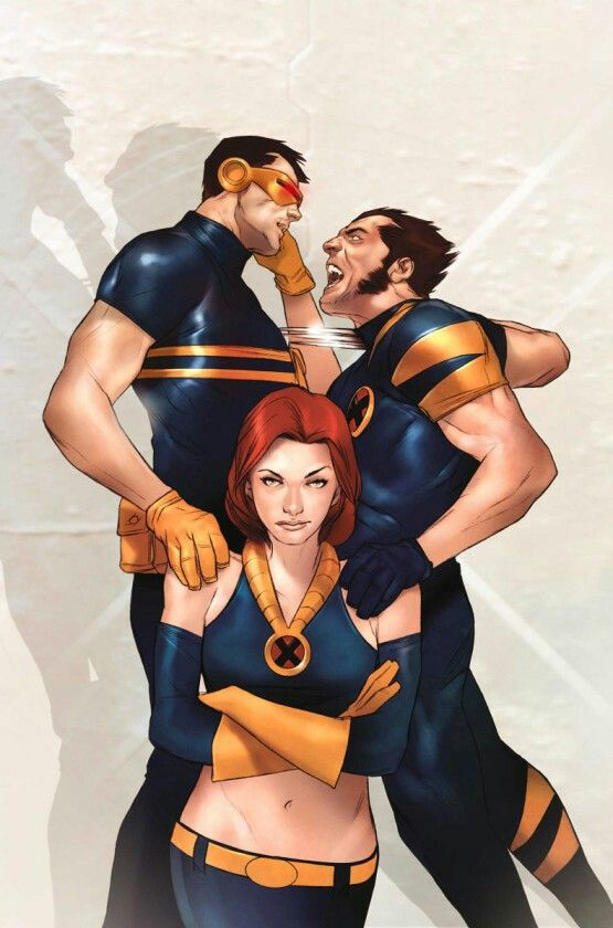 Cyclops,Wolverine And Jean Grey