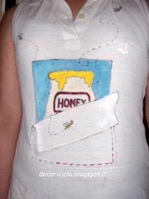 T-shirt vaso di miele