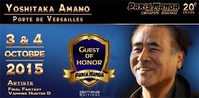 Yoshitaka Amano invité d'honneur à Paris Manga & Sci-Fi Show - Yoshitaka Amano est un artiste accompli. Illustrateur de génie inspiré par l'art nouveau européen, il a travaillé pendant plus de quinze ans au sein du studio d'animation japonais Tatsunoko comme ...