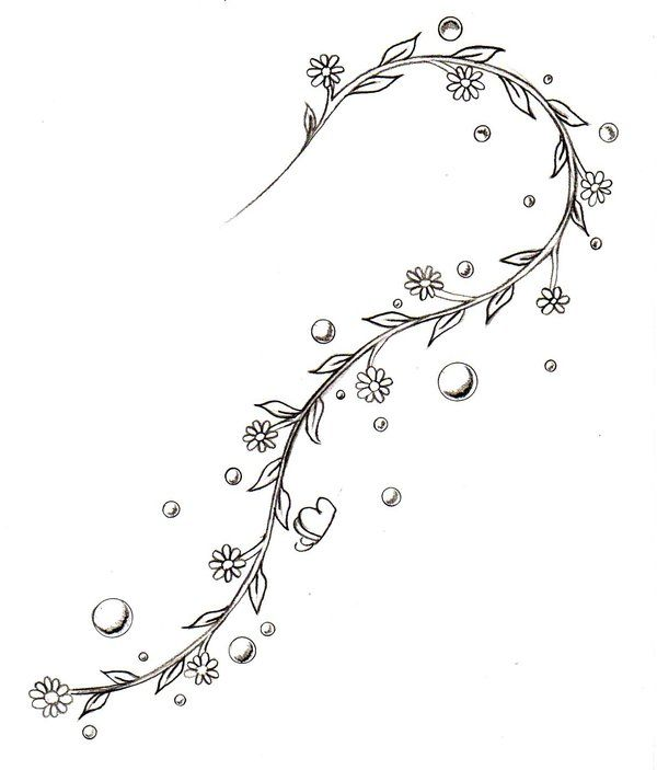 Tattoo Designs Vines And Flowers: 17 Best Ideas About Flower Vine Tattoos On Pinterest
