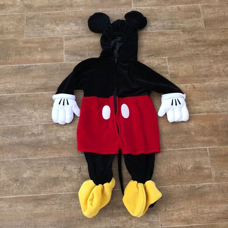 6-12 month Disney Store Mickey Mouse costume plush deluxe clubhouse boys baby #Disneystore