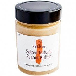 99th Monkey's Salted Natural Peanut Butter is made with locally sourced, natural peanuts. Minimal processing means this peanut butter is natural, delicious, and good for you. 300ml.