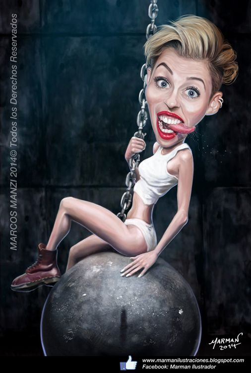 CARICATURA MILEY CYRUS MILEY CYRUS CARICATURE FOLLOW THIS BOARD FOR GREAT CARICATURES OR ANY OF OUR OTHER CARICATURE BOARDS. WE HAVE A FEW SEPERATED BY THINGS LIKE ACTORS, MUSICIANS, POLITICS. SPORTS AND MORE...CHECK 'EM OUT!! Anthony Contorno Sr