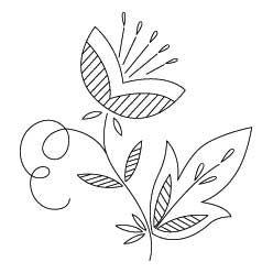 Pattern Detail   Stylized Flower A   Needlecrafter