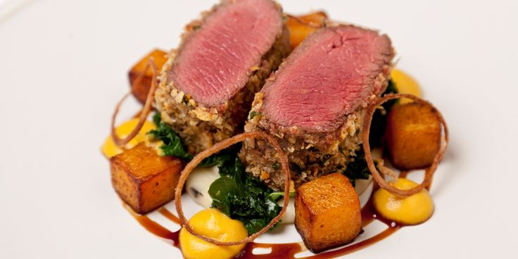 Venison with Butternut Squash, Parmesan and Truffle Mash