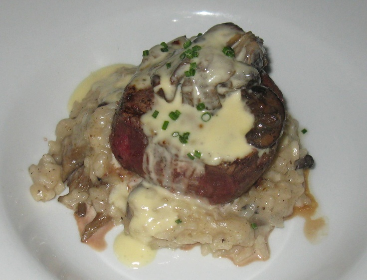 Filet Mignon - with wild mushroom risotto, white truffle and herb ...