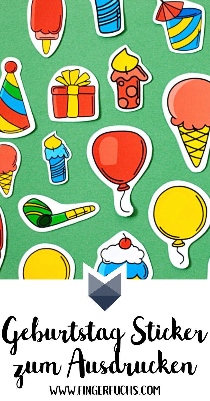 Sticker Zum Geburtstag Selber Machen Kostenloser Download