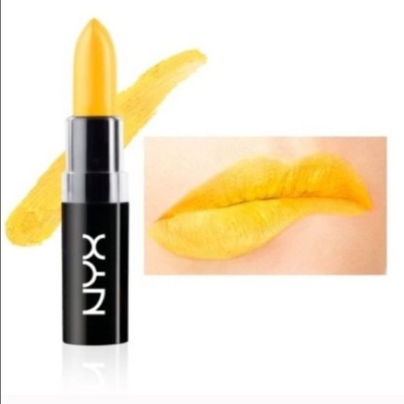 NYX Macaron Lippie Lipstick in Citron NYX Macaron Lippie Lipstick in Citron. Goes on bright yellow. New with original packaging. Unused (not even for swatching.) Listing is for ONE lipstick. 20% off bundles of 2 or more. NYX Makeup Lipstick