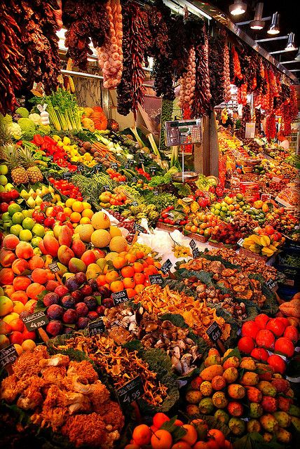 "Barcelona's Boqueria Market - ""Fruity colours of Barcelona"" ... by Franz St., via Flickr"