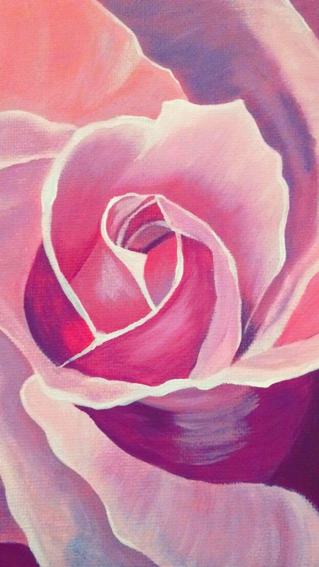 Purple Rose painting. Acrylic on canvas   - Instagram @van.artt …