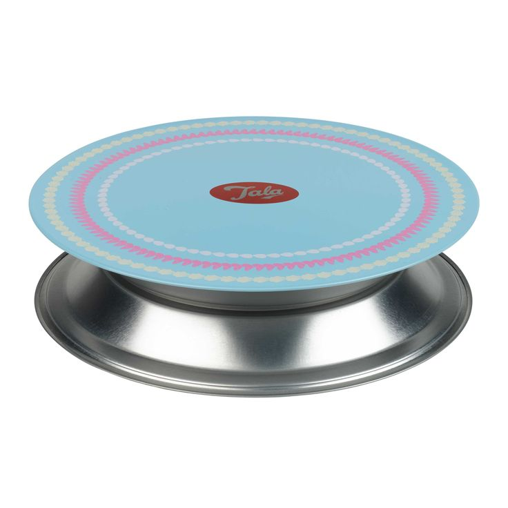 Ice your cake in style then use it as cake stand. Turns at a toutch!