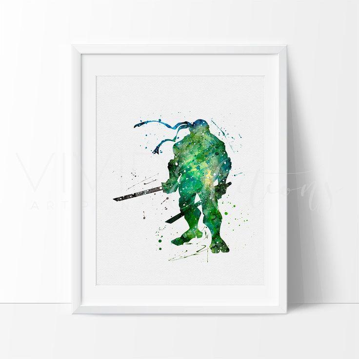 Teenage Mutant Ninja Turtles - Leonardo Watercolor Art Print