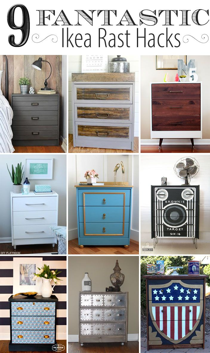 Fantastic IKEA Rast Hacks with  Hickory Hardware via Dandelion Patina
