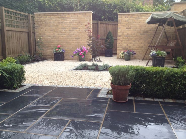 Small town house garden in York using Marshall slate ...