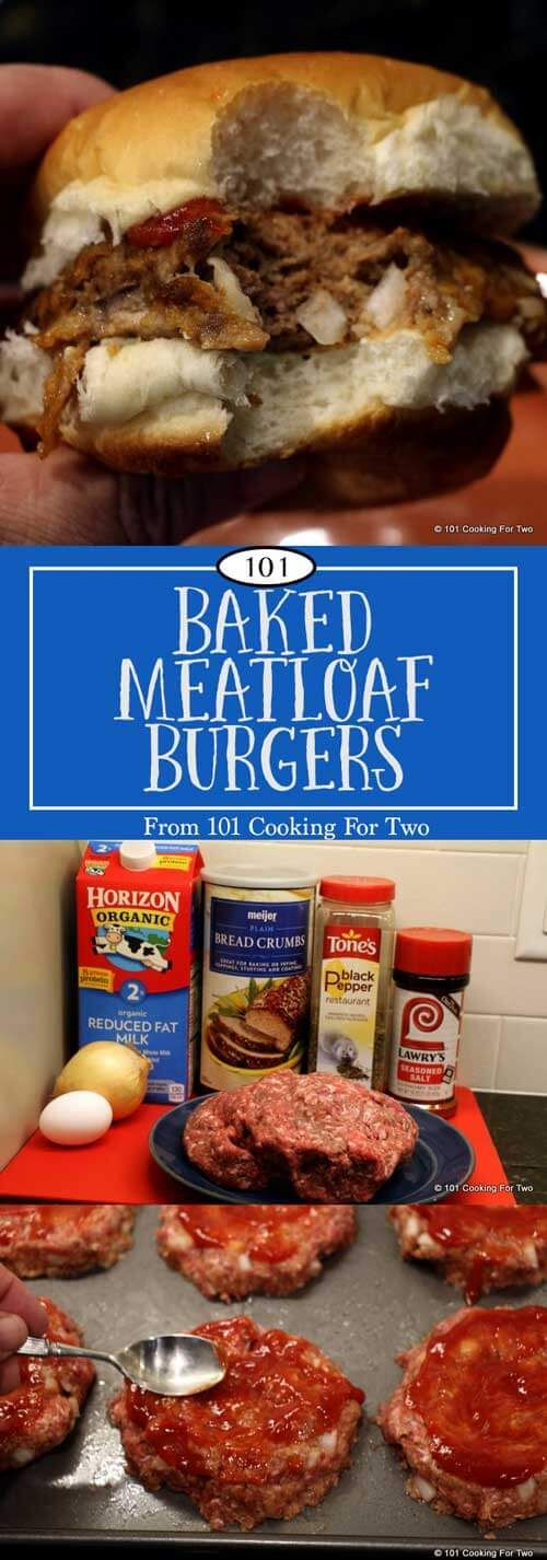 Baked Meatloaf Burgers via @drdan101cft