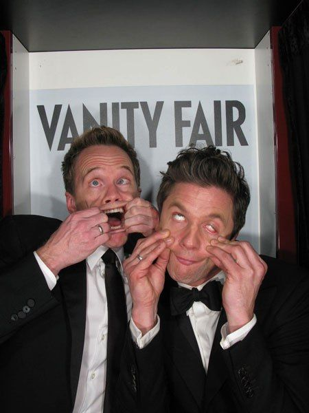 Priceless! Outtakes from the 2013 Vanity Fair Oscar-Party Photo Booth | Neil Patrick Harris and David Burtka