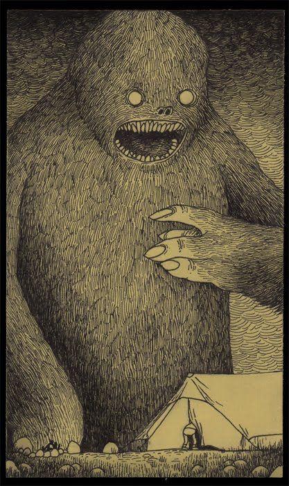 Post-it note monsters by John Kenn Mortensen