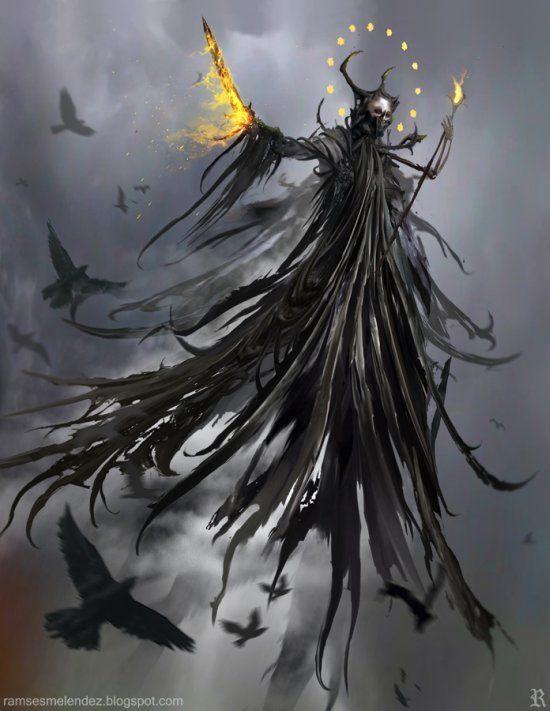 Demônios, anjos caídos e seres fantasmagóricos nas ilustrações de fantasia de Ramsés Meléndez:
