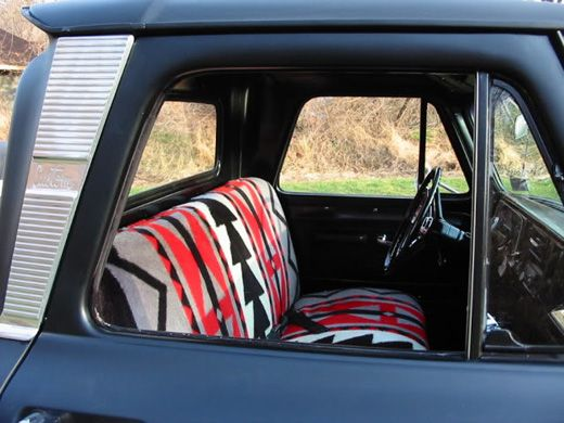 I should totally sew seat covers for my car with Mexican blankets!