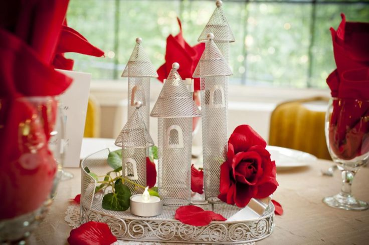Castle Table Centerpiece Beauty And The Beast Wedding