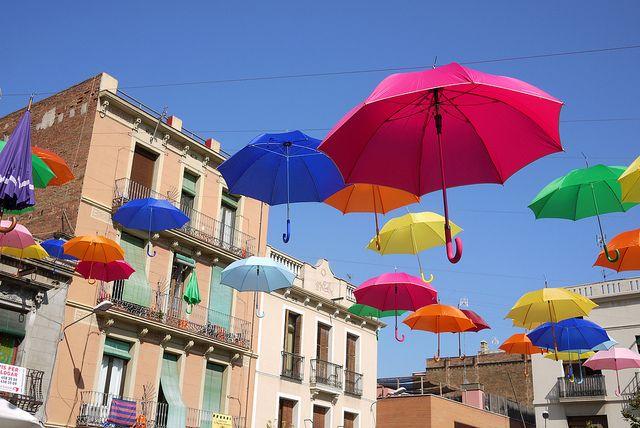 Paraigües. Plaça del Sol, barri de Gràcia | Festes de Gràcia