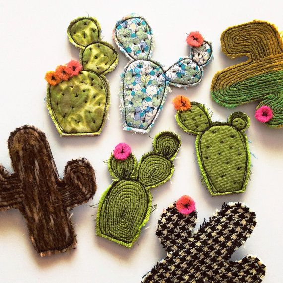 Cactus brooch van alittlevintagestore op Etsy