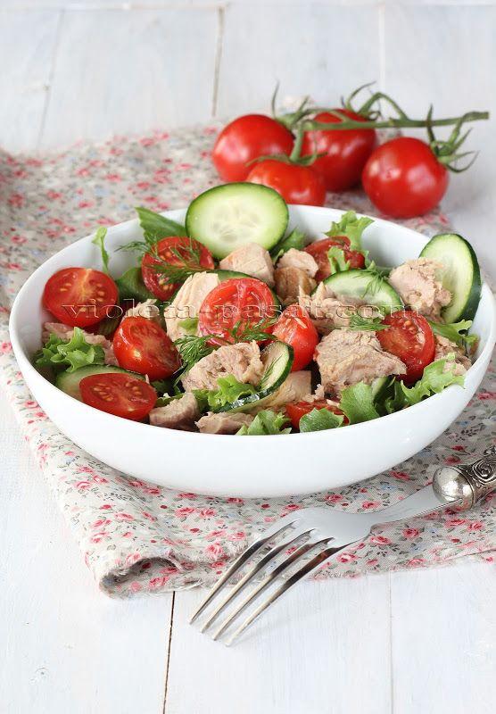 Garden Cucumber Salad Recipe With Tuna And Sweet Basil Recipes ...