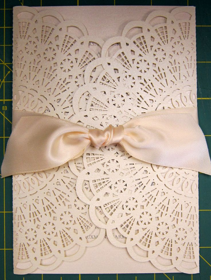 invitation to wedding ukrainian textiles and traditions%0A A satin flat knot is the perfect finished touch to this custom laser cut  invitation