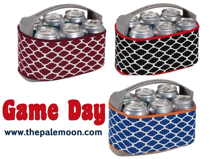 Game Day 6 Pack Cooler $29!  http://www.thepalemoon.com/game-day-essentials/game-day-6-pack-cooler  6 pack cooler with a removable center ice pack featuring geo print neoprene cover with a coordinating border.  Or comment sold, color and email address! #gameday #tailgating #uga #accessories #godawgs #au #wareagle #crimsontide #sixpack #cooler