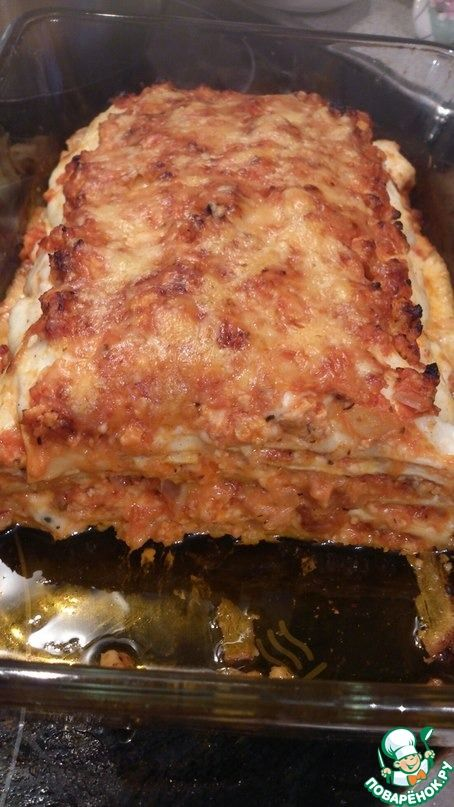Лазанья с куриным фаршем а-ля болоньезе ингредиенты