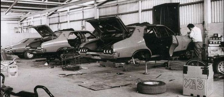Lot 6 Mahoneys Road - THIS IS A CLASSIC PHOTO OF THE 3 XA GTHO BRAMBLES RED RACE CARS - THE OTHER ONE IS CLYLIPSO GREEN AND THE ONLY PHASE 4 WITH A COMPLIANCE PLATE