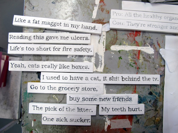 examples of text work on wood