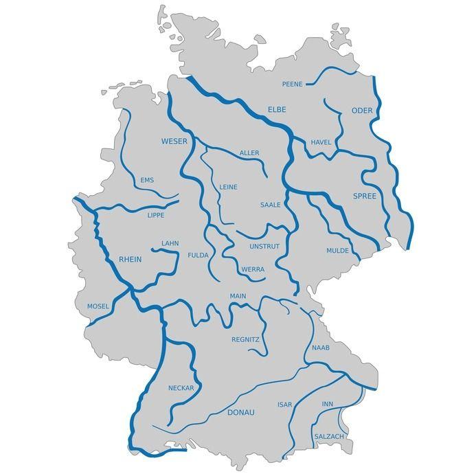 karte der flüsse in deutschland Pin von Carlos Gatti auf Erdkunde in 2020 | Karte deutschland