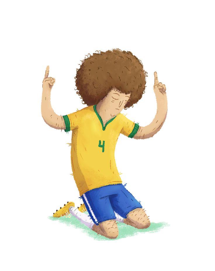 David Luiz, Brésil #THEBIGFOOT #FOOT #FIFA #PES #PS4 #XBOX #JEUX #JEUXVIDEO #SOCCER #PSG #CHELSEA #BRÉSIL #DESSIN #ILLUSTRATION