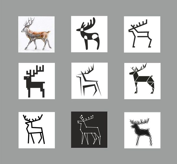by Agnė Žiūkaitė / deer stylization / graphic design
