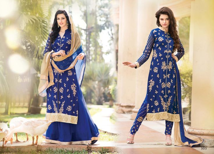 @Wedding Wear Blue Color Designer Suit. Pricing Call Us or What's App on :- +91 99099 59528 Visit Our Site:=> #www.sareemall.in Email Us on:- support@sareemall.in