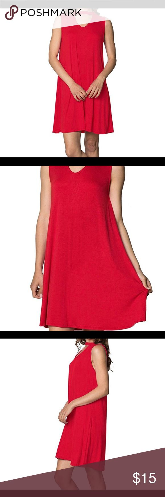 NWT Red tunic flow dress size large Brand new! This dress is made with high quality materials for maximum durability and style.The sleeveless dress is made with 95% rayon and 5% spandex that makes it soft for ultimate comfort.The loose fit of the dress makes it ideal for every woman that wants to look her best without compromising her comfort and convenience.This dress will flatter every silhouette and it will make you look elegant and stylish. Measurements: size large 12-14. Chest/bust…