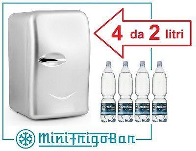 Mini Frigo Frigorifero Portatile da Tavolo Dual Power 12V 220V Auto Ufficio Casa