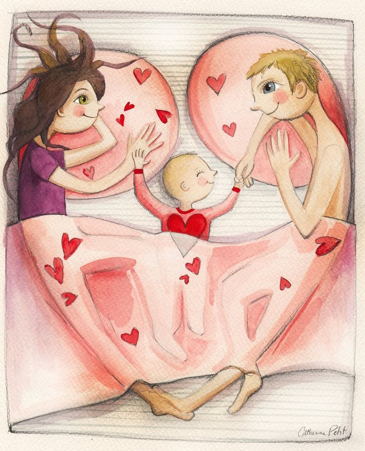 Spécial Saint-Valentin - L'amour - Catherine Petit  Valentine's day special - Love (family) - Catherine Petit Illustrations, murals, paintings, cards by Catherine Petit in Montreal - handmade for you