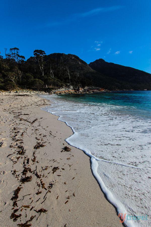Visiting famous Wineglass Bay in Tasmania - Australia