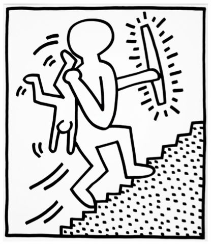 Upward Climb by Keith Haring  https://artsation.com/en/shop/keith-haring