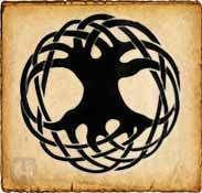 Árbol de la vida  - Símbolos celtas - Era un símbolo sagrado, representa el mundo de los espíritus, el bienestar y la integridad de las aldeas. Refleja la conexión de sus ramas, que tocaban el cielo, con sus raíces, que descendian al mundo de los muertos. Cada árbol poseía un significado distinto, desde la protección del abedul a la imaginación del sauce o la sabiduría del fresno.