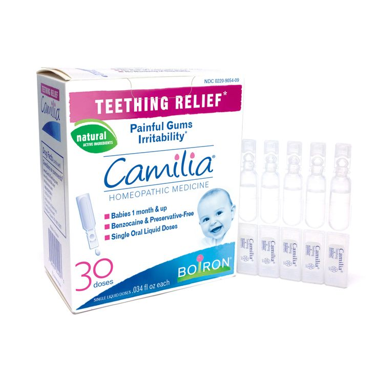 Baby teeth can come as early as four months and the insane pain these munchkins feel can really throw them off-kilter. Their eating and sleeping habits can change, so just when you think you've got a great thing going with a schedule, teething can really fuck up your game. Camilia teething medicine relieves their swollen gums. Bonus: The active ingredients are homeopathic.