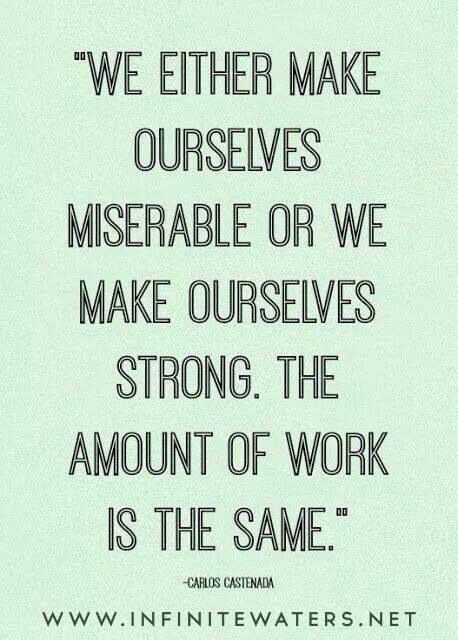 We make ourselves...