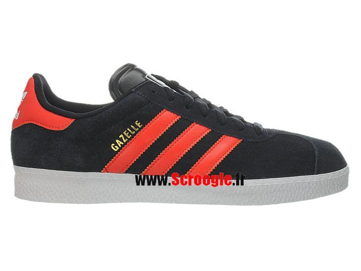 Chaussures de Originals Pas Cher Pour Homme/Femme Adidas Gazelle 2 Noir/Rouge G51292